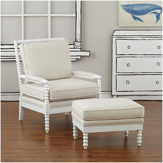 Land Of Nod Jenny Lind Chair And Ottoman Decor Look Alikes