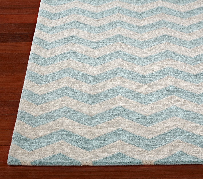 Pottery Barn Kids Wool Chevron Rug