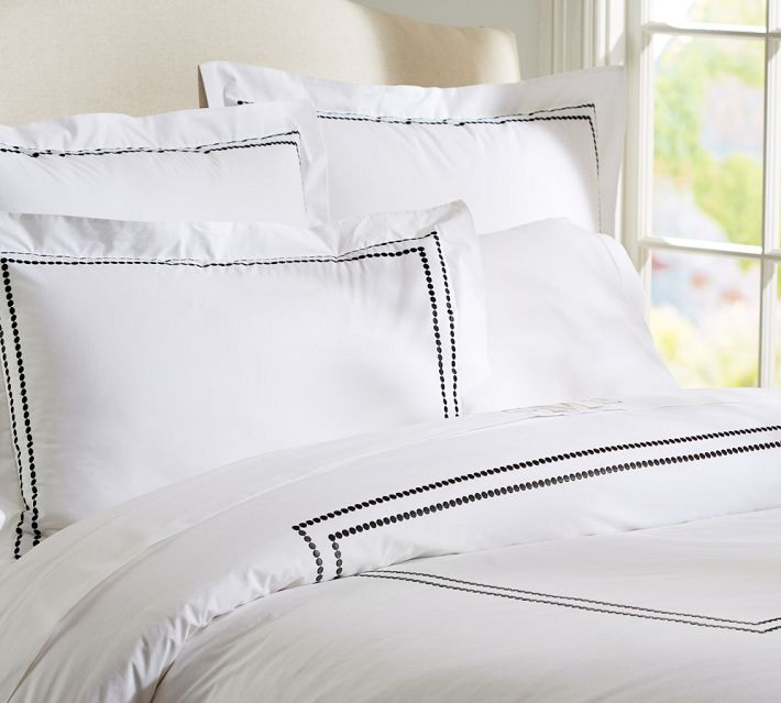 Decor Look Alikes | Pottery Barn Pearl Embroidered Duvet
