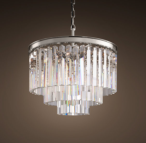 Restoration hardware 1920 s odeon glass fringe 3 ring for When is restoration hardware lighting sale
