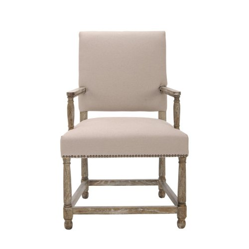 Decor Look Alikes | Stratton Linen Side Chair w/ Nail Head