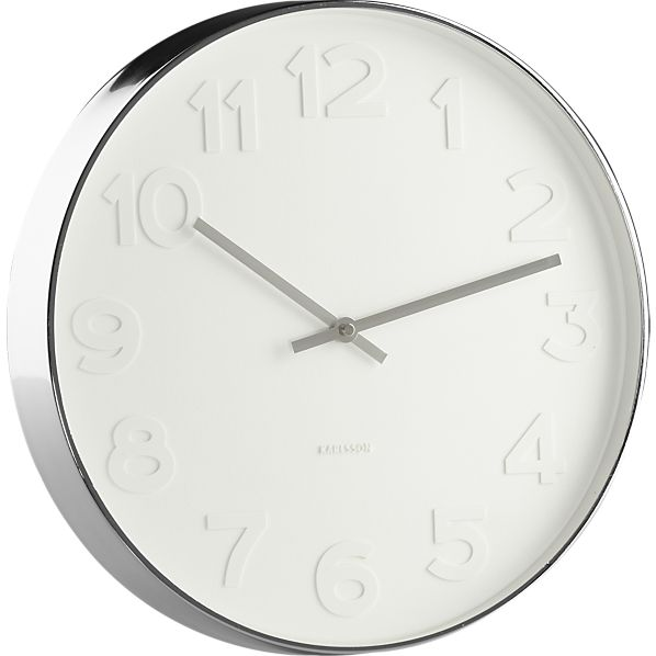 Decor Look Alikes | Crate and Barrel Embossed Numbers Wall Clock