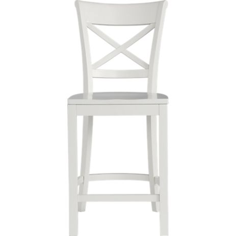 Decor Look Alikes | Crate & Barrel Vinter White Stool
