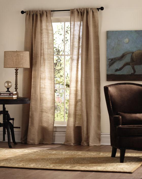Decor Look Alikes | Home Decorators Luxe Linen Curtain Panel