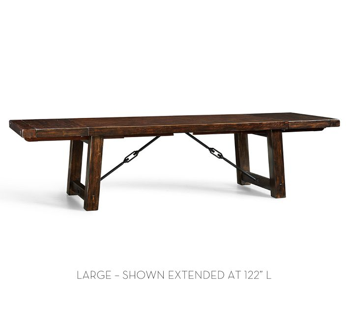 Pottery Barn Benchwright Extending Dining Table Decor Look Alikes - Pottery barn trestle dining table