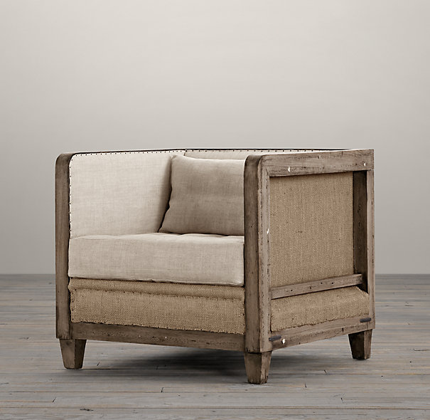 Restoration Hardware Deconstructed Shelter Arm Chair