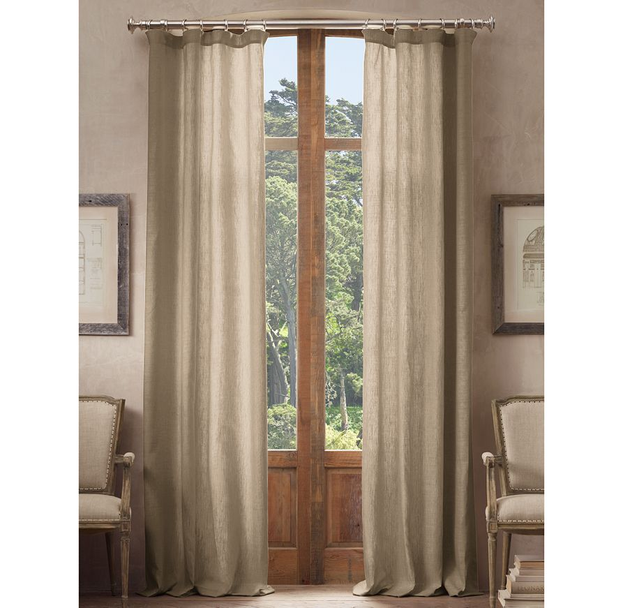 Restoration Hardware Belgian Opaque Linen Drapery Decor