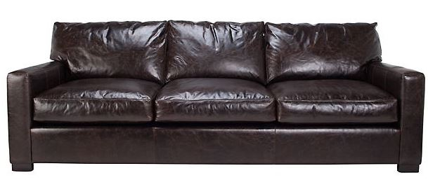 Z gallerie leather sofa almost brand new couch z gallerie for Z gallerie leather sectional sofa