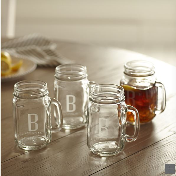 Decor Look Alikes | Birch Lane Monogrammed Drinking Jars