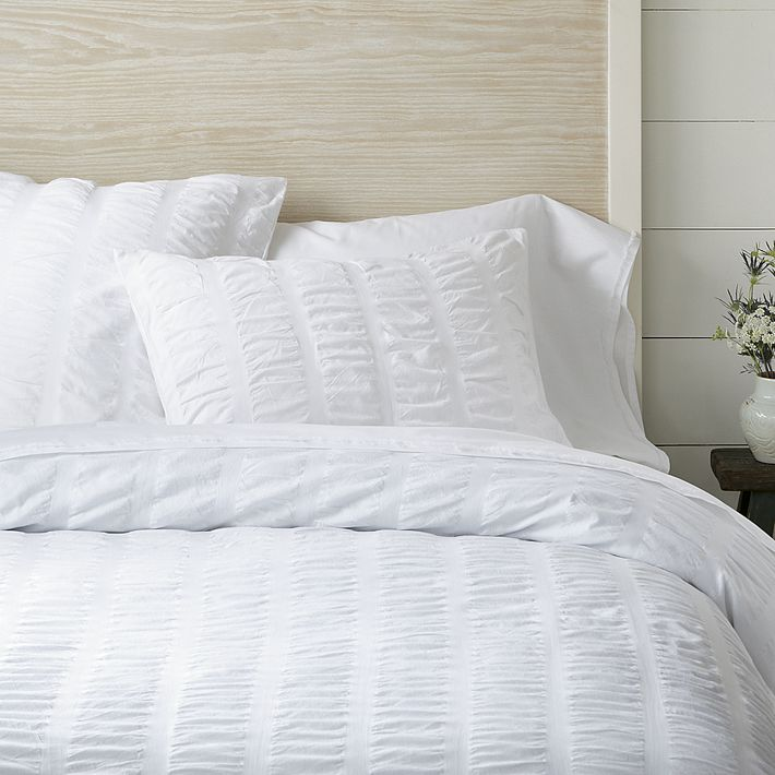 Decor Look Alikes | West Elm Organic Seersucker Duvet Cover