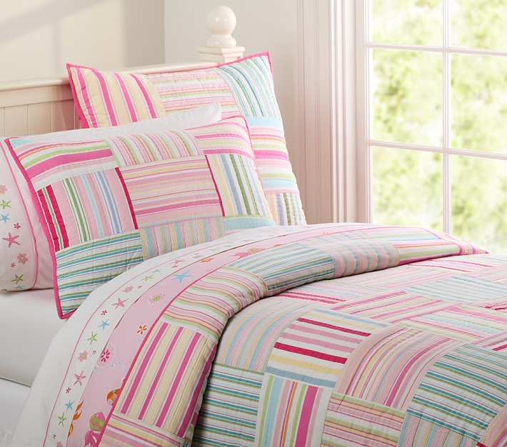 Decor Look Alikes | Pottery Barn Kids Bright Stripes Quilt