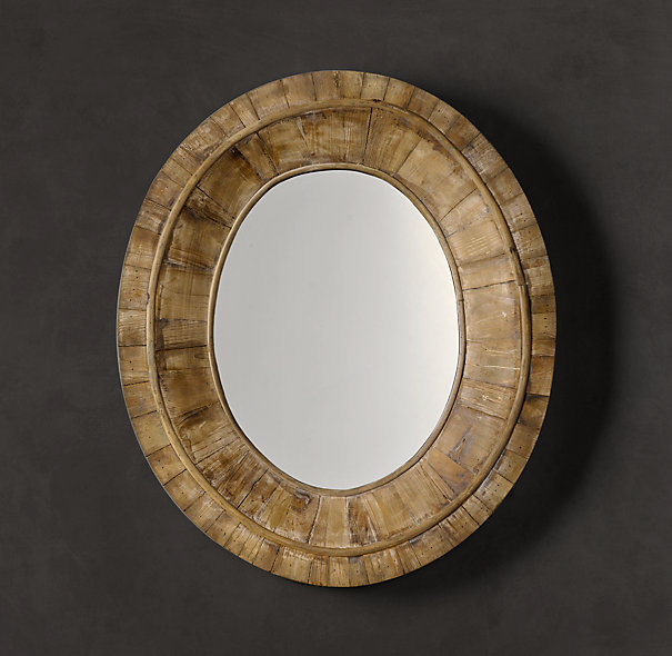 Restoration Hardware Pieced Oval Mirror Decor Look Alikes