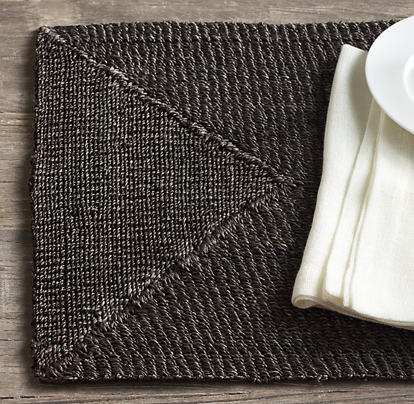 Decor Look Alikes | Restoration Hardware Handwoven Abaca Placemats