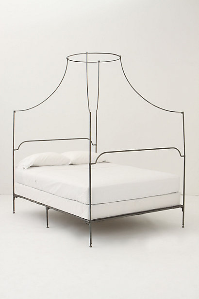 Decor Look Alikes | Anthropologie Italian Campaign Canopy Bed
