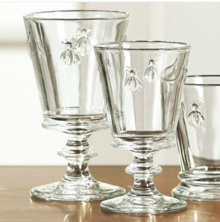 Decor Look Alikes | Ballard Designs Bee Glassware Goblets