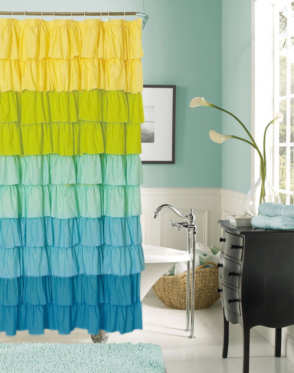 Decor Look Alikes | Dainty Ruffled Shower Curtain
