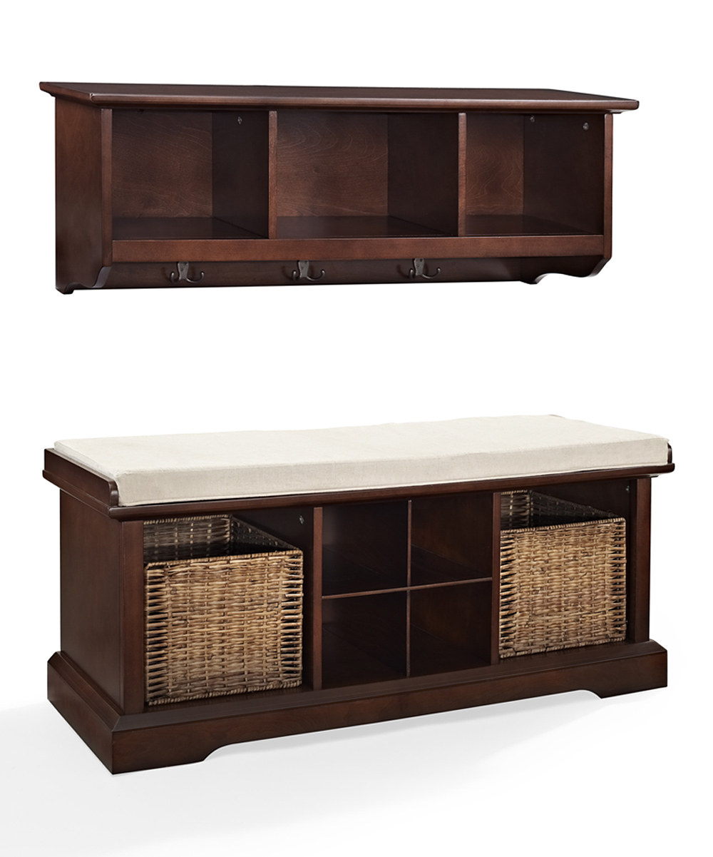 Decor Look Alikes | Brennan 2-Piece Entryway Shelf and Bench