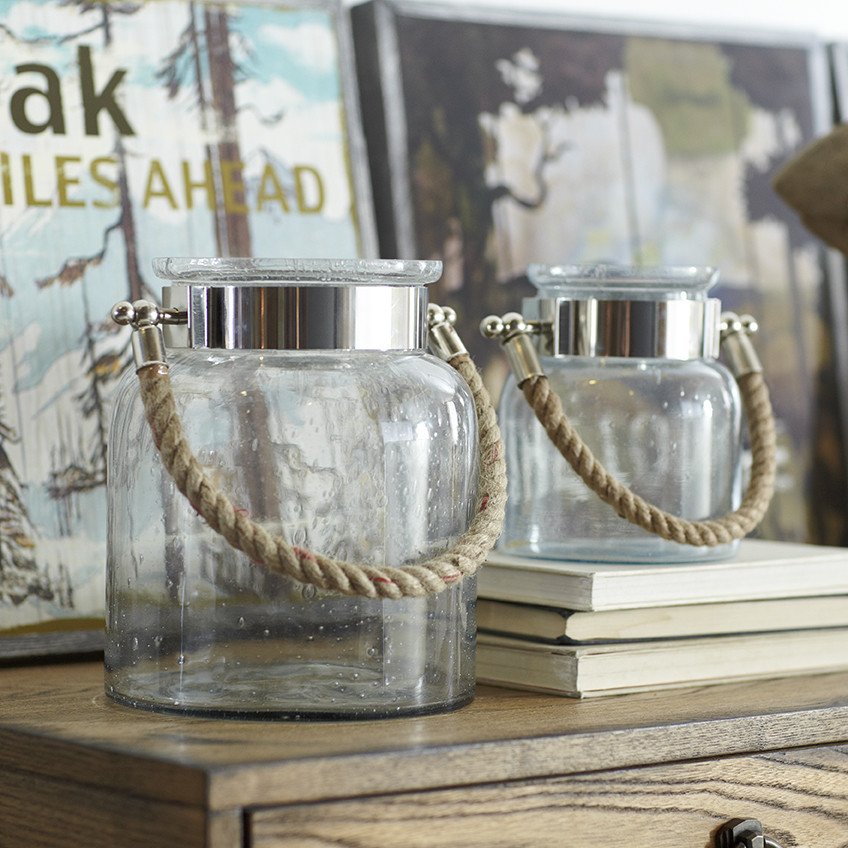 Decor Look Alikes | Birch Lane Seeded Glass Lantern
