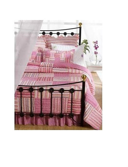 Decor Look Alikes | Ebay Pink Strip Patchwork Quilt