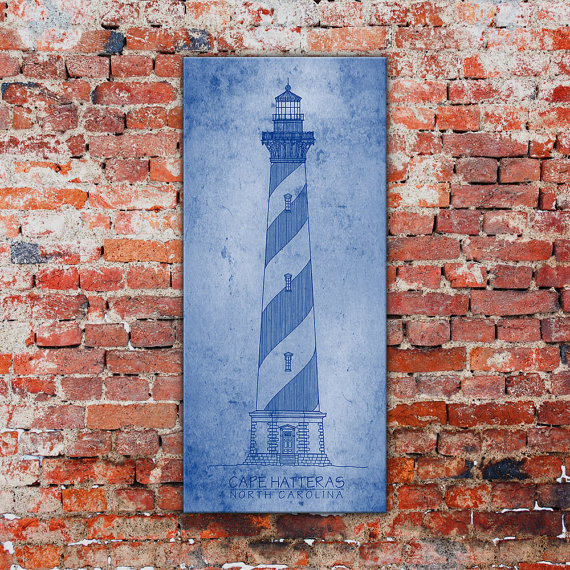 Nautical blueprint wall art decor look alikes decor look alikes etsy moderncanvas vintage lighthouse blueprint malvernweather Choice Image