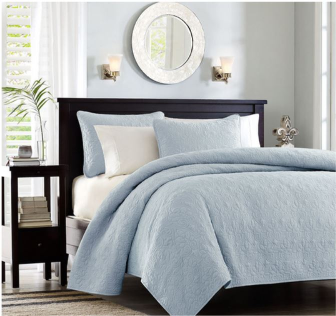 Decor Look Alikes | Overstock Madison Park Mansfeld 3pc Coverlet Set
