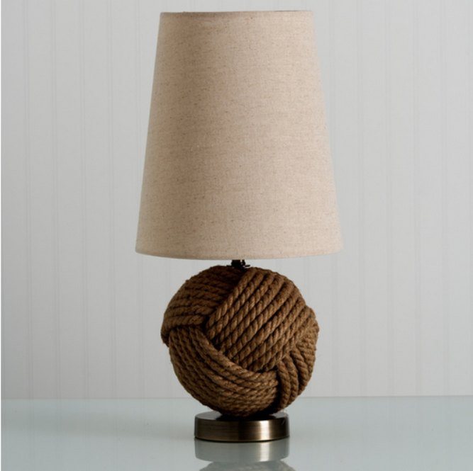 Decor Look Alikes | Overstock Avalon Jute Rope Lamp