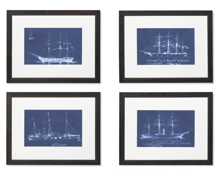 Nautical blueprint wall art decor look alikes nautical blueprint wall art decor look alikes williams sonoma boat blueprints malvernweather Gallery