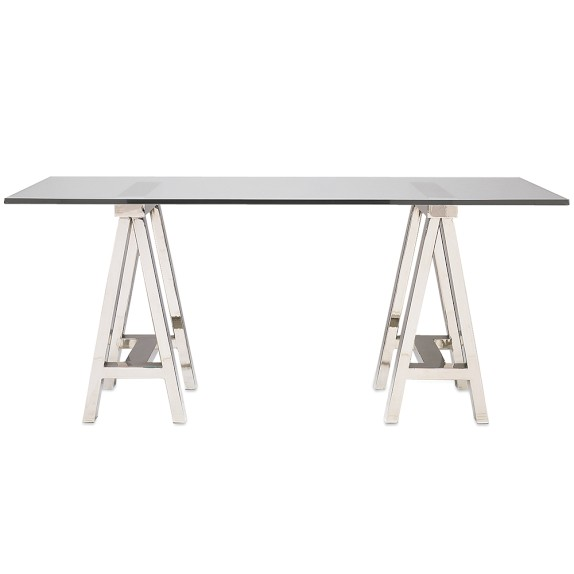 Decor Look Alikes | Willams-Sonoma Mason Glass Top Desk