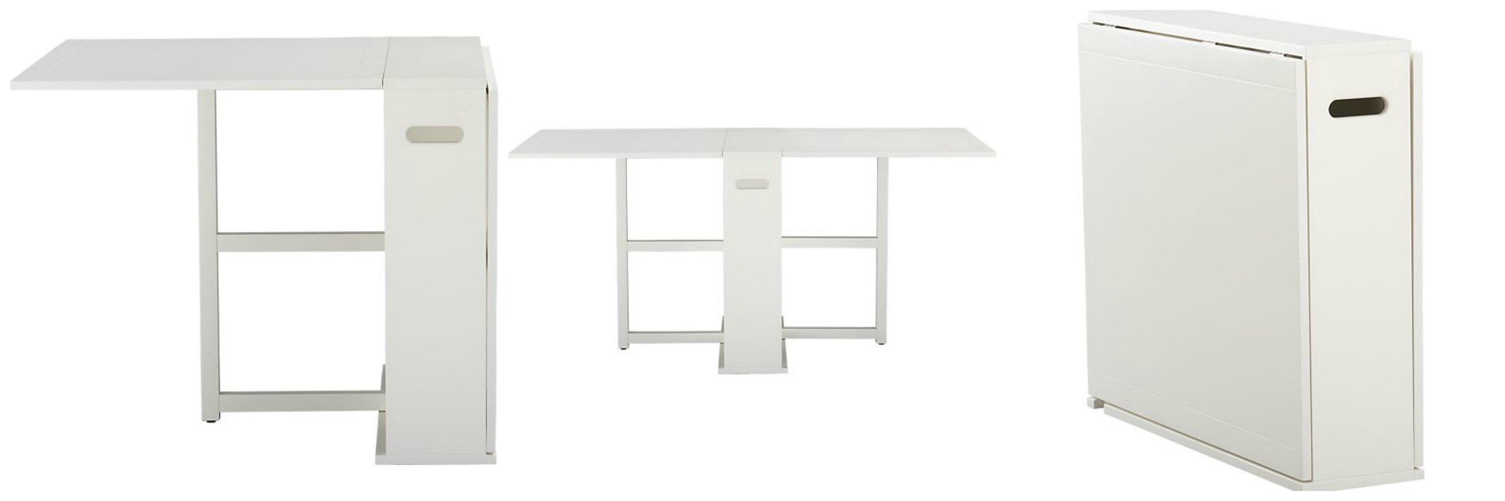 Crate and barrel span gateleg dining table decor look alikes - Gateleg table with chair storage ...