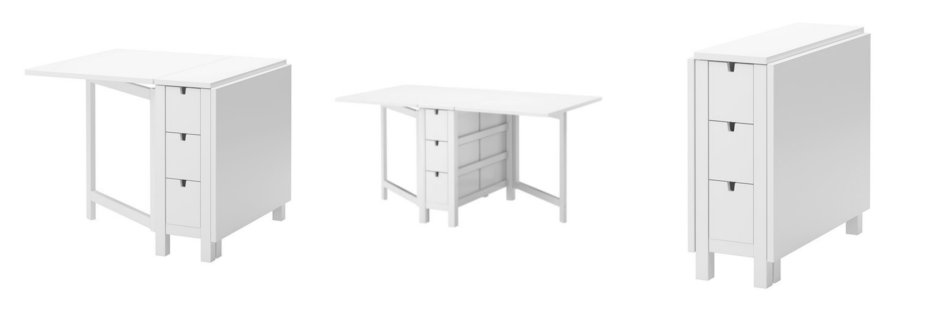 Crate and barrel span gateleg dining table decor look alikes for Span white gateleg table