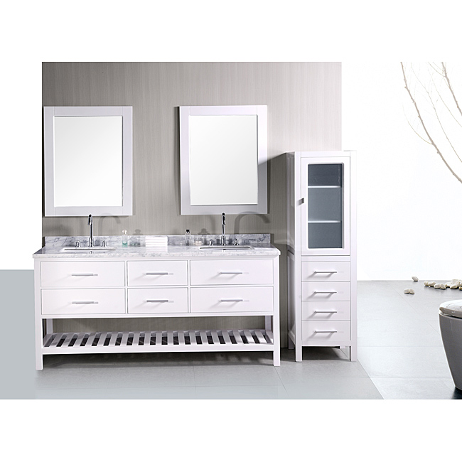 Decor Look Alikes | Overstock Shaker Style Double Sink Vanity