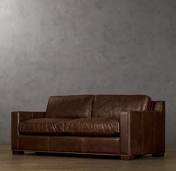 Decor Look Alikes Restoration Hardware Collins Leather Sofa