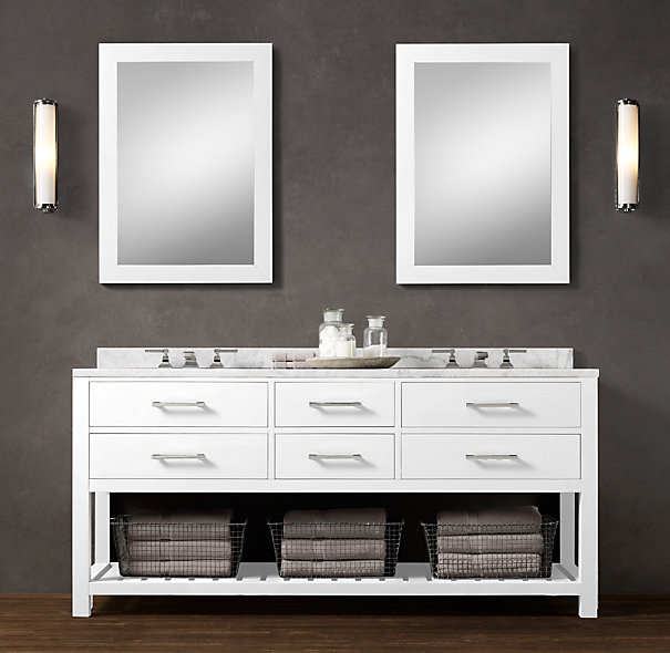 Decor Look Alikes | Restoration Hardware Hutton Double Washstand