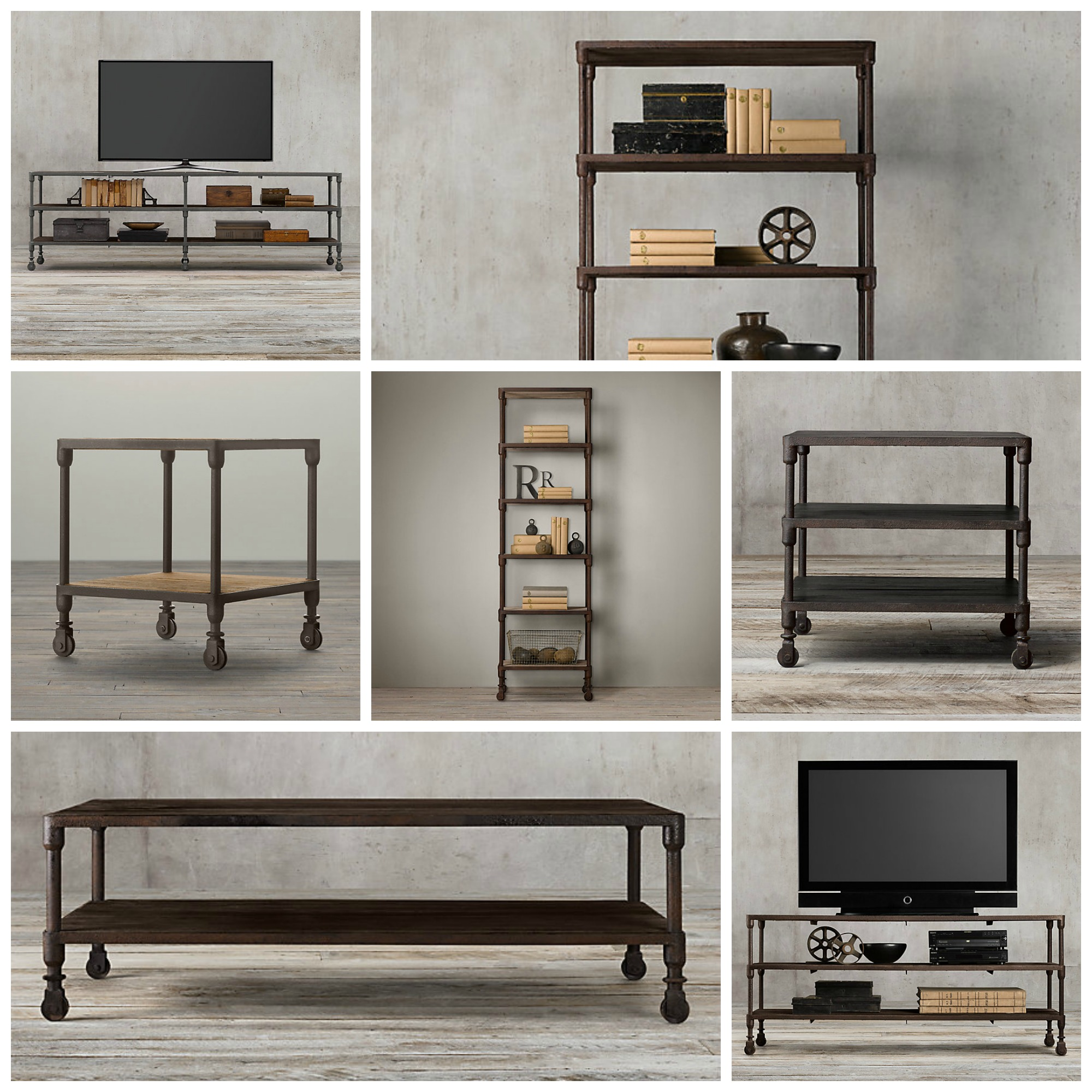 everybody s doing it industrial style collections decor look alikes. Black Bedroom Furniture Sets. Home Design Ideas