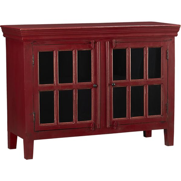Decor Look Alikes | Crate and Barrel Rojo Red Media Storage Cabinet