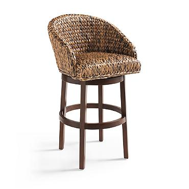 Decor Look Alikes | Grandin Road Milo Swivel Seagrass Stool
