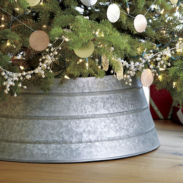 Decor Look Alikes | Crate & Barrel Galvanized Tree Collar