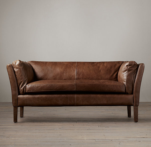 Restoration Hardware Leather : Restoration hardware sorensen leather sofa decor look alikes
