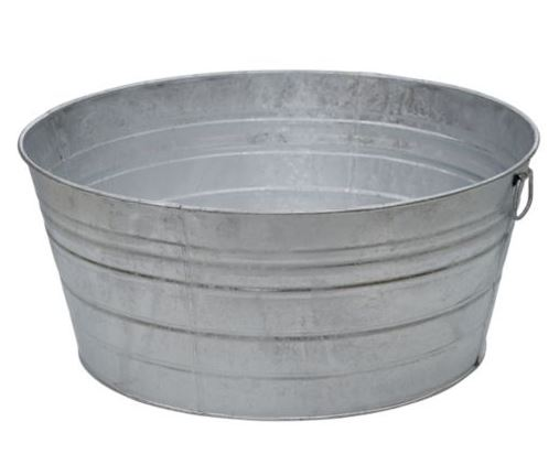 Decor Look Alikes | Tractor Supply Galvanized  Metal Tub