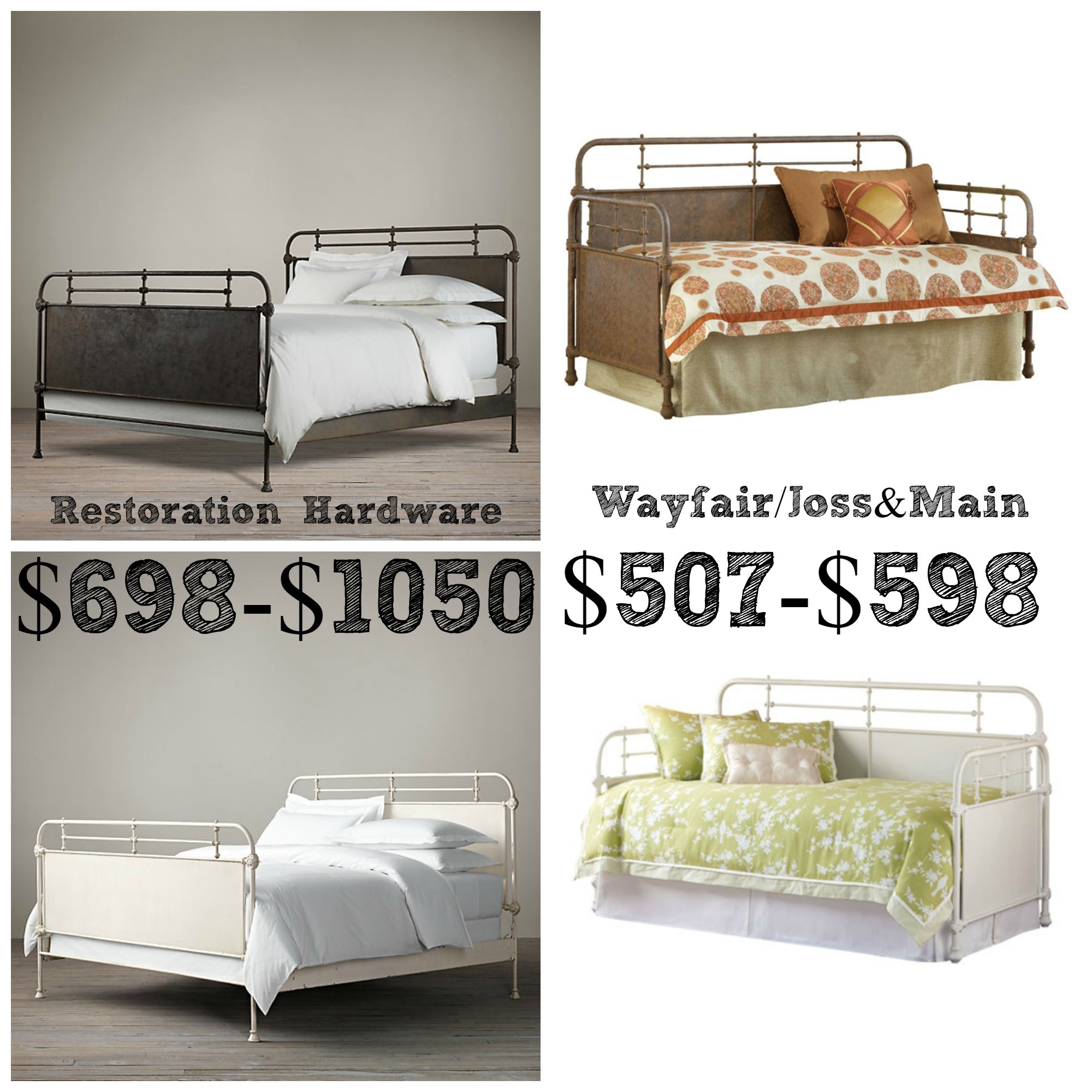 Decor Look Alikes | Restoration Hardware French Acedemie Iron Bed
