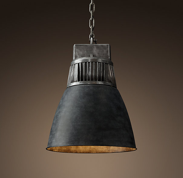 Decor Look Alikes| Restoration Hardware European Factory Fin Pendant