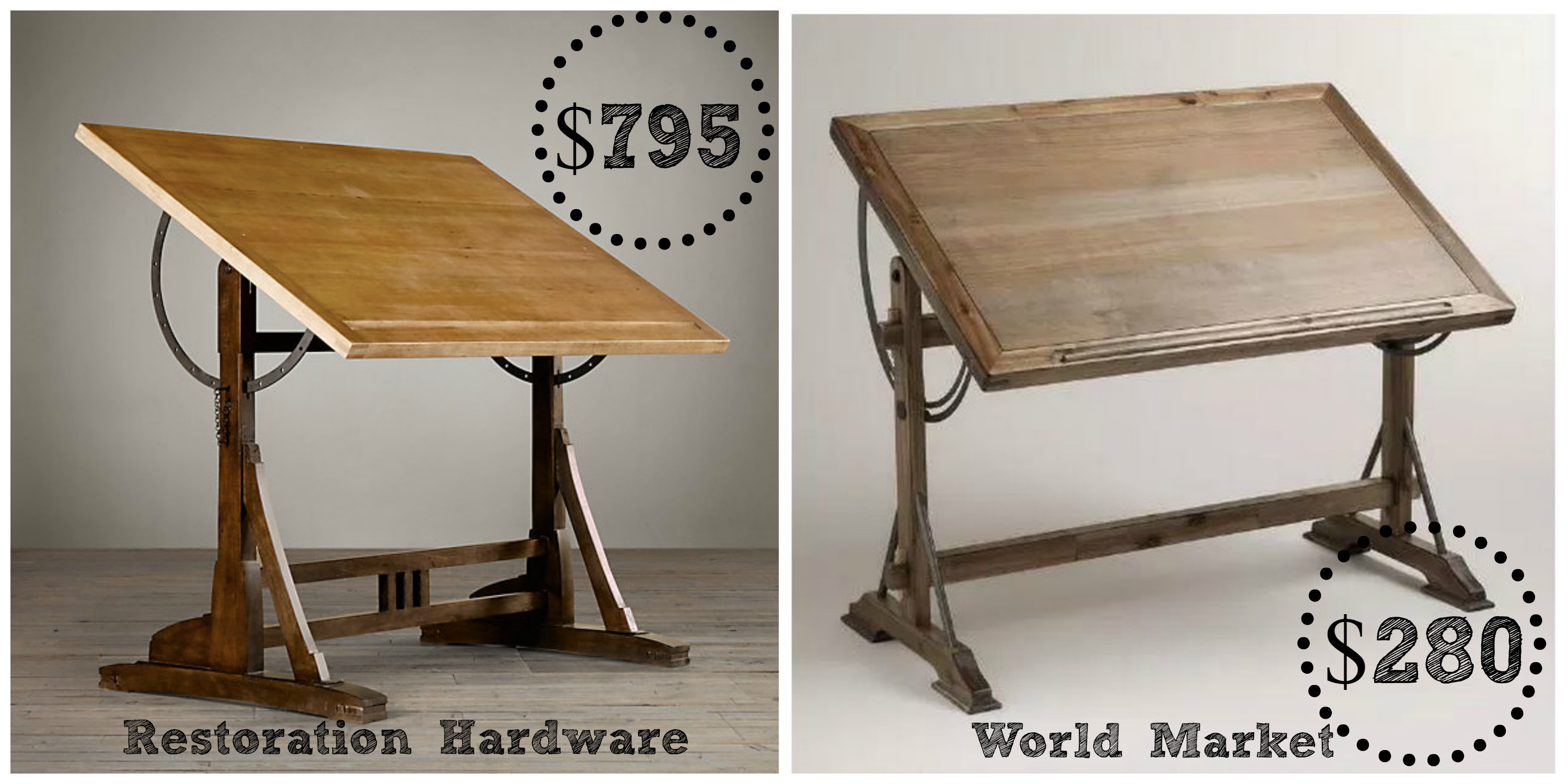Restoration hardware 1920 s french drafting table decor for Restoration hardware bedside tables
