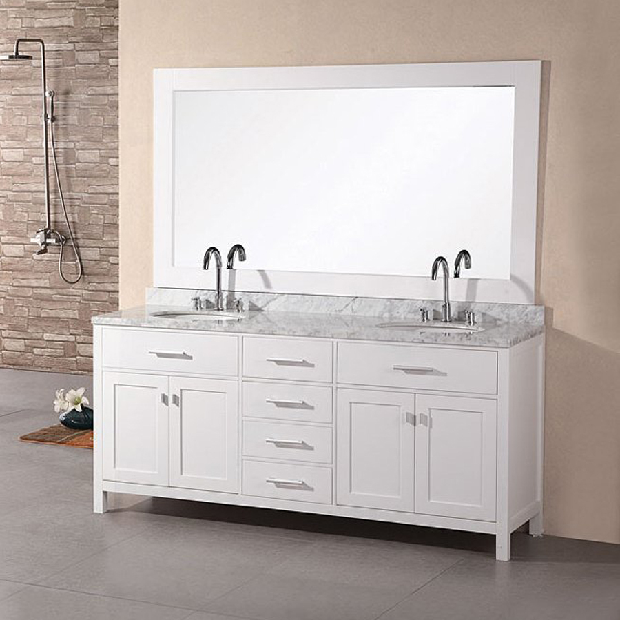 decor look alikes lowes design element london pearl vanity - Bathroom Cabinets At Lowes