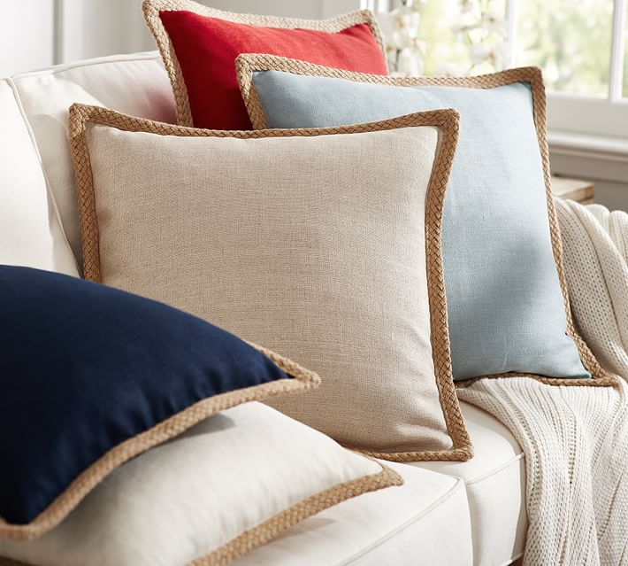 Decor Look Alikes | Pottery Barn Jute Braid Pillow Cover