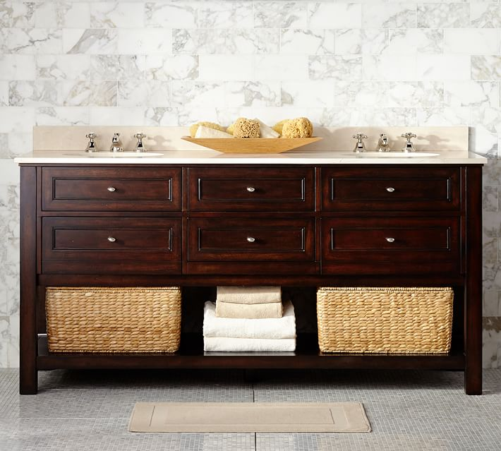 Decor Look Alikes | Pottery Barn Classic Double Sink Console