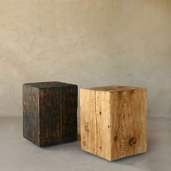 Decor Look Alikes | Pfeifer Studio Solid Pine Cube Table