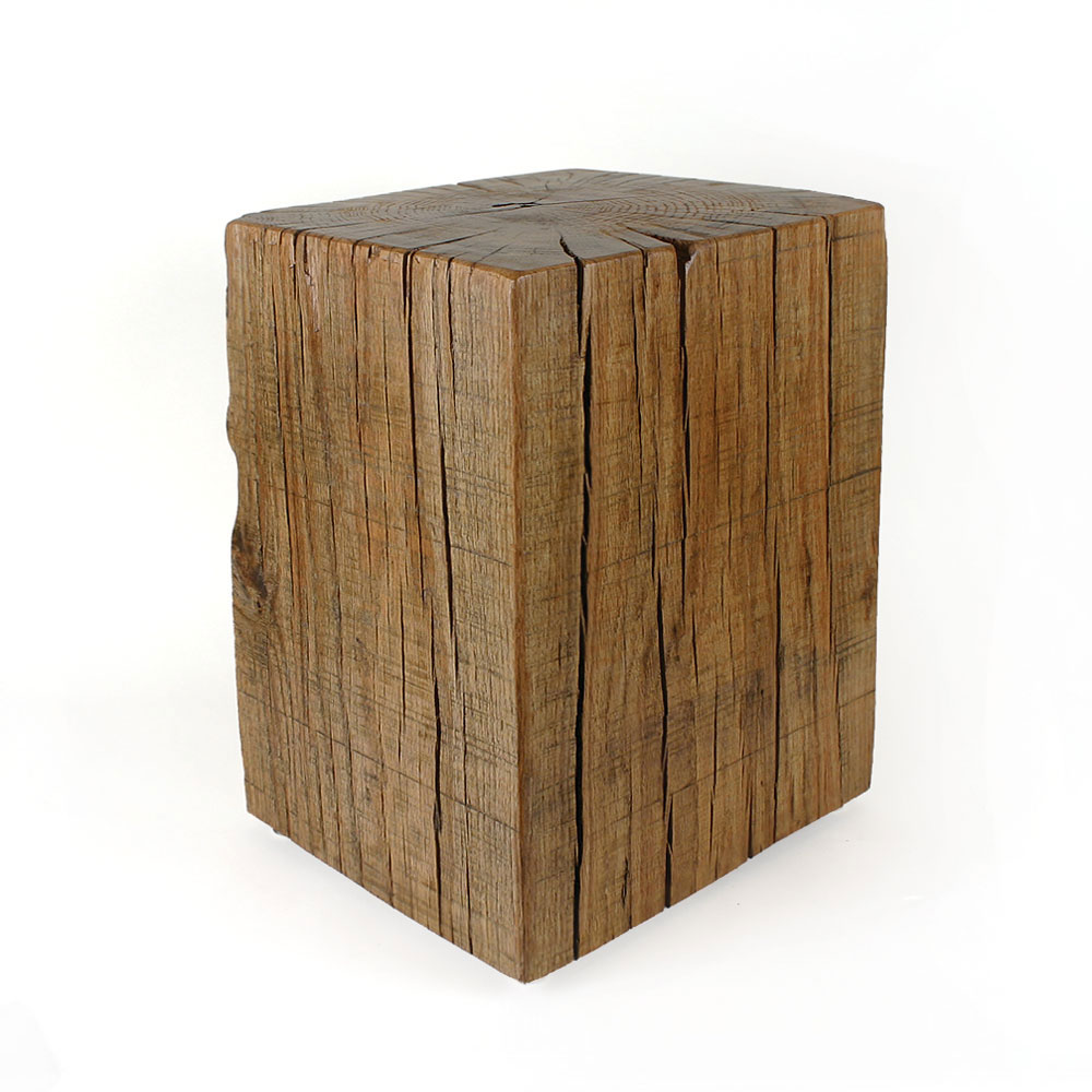 Decor Look Alikes | Pfeifer Studio Reclaimed Oak Cube Table