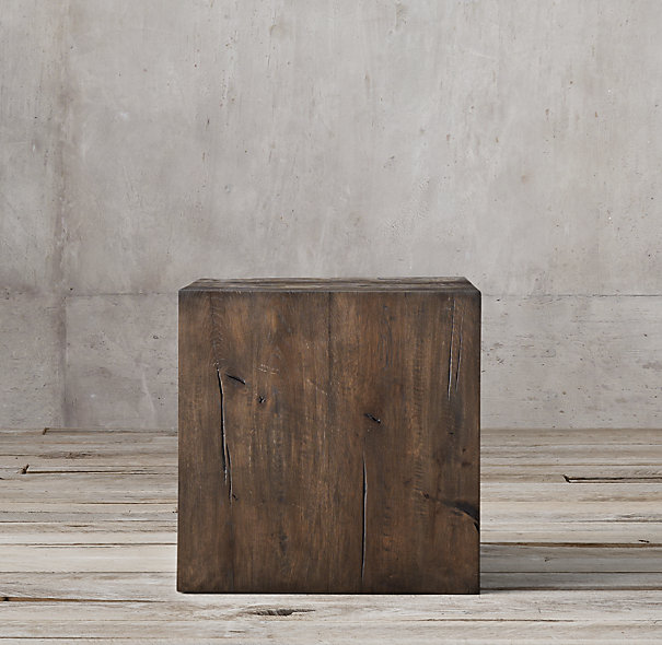 Decor Look Alikes |Restoration Hardware Reclaimed Russian Oak Parsons Cube