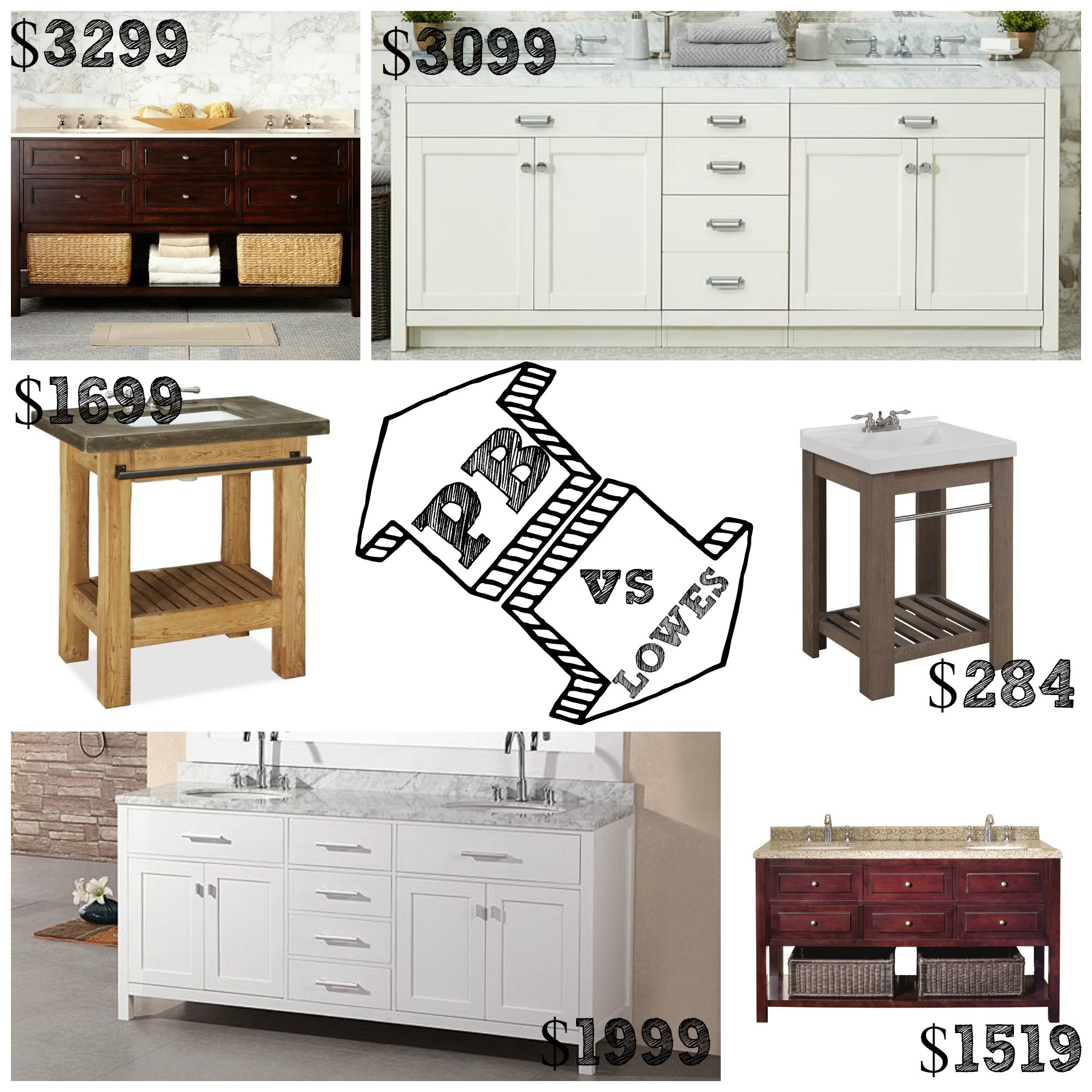 Decor Look Alikes | Pottery Barn vs Lowes Bathroom Vanities