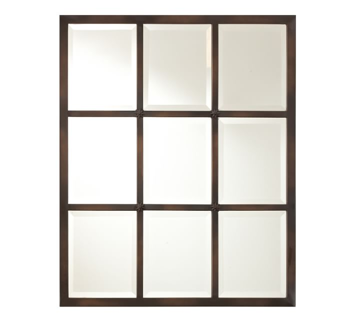 Decor Look Alikes | Small Eagan Multipane Mirror